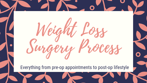 Weight loss surgery process. Everything from pre-op appointments to post-op lifestyle.